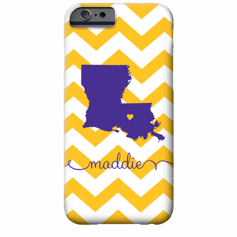 Louisiana State Love Personalized iPhone Case | Swanky Press