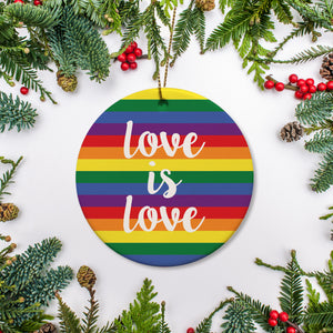 Love is Love Ornament | Pride | LGBTQ | Mr and Mr | Pipsy.com