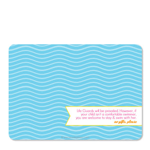 Luau Birthday Invitation | Swanky Press (back view)