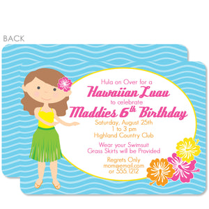 Luau Birthday Invitation | Swanky Press