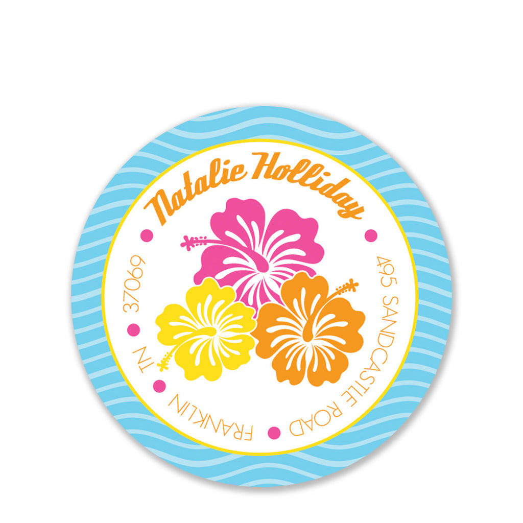 Luau Return Address Stickers