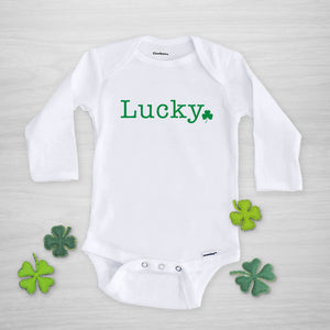 Lucky Shamrock Onesie for St. Patricks Day, Genuine Gerber Onesie, Pipsy.com