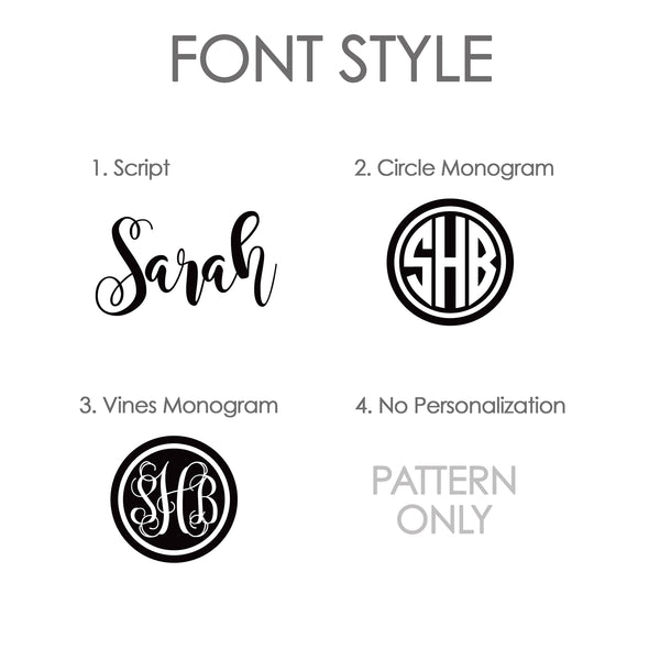 Swanky Press Lunch Tote Font Style Options | Pipsy