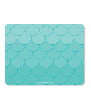 Mermaid Flat Thank You Notes | Swanky Press (back view)