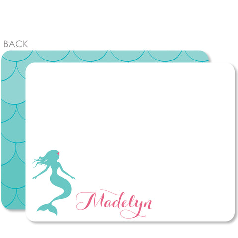 Mermaid Flat Thank You Notes | Swanky Press