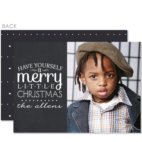 Little Christmas Holiday Photo Card