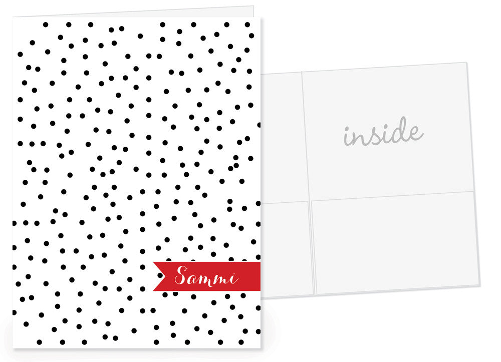 mini dots personalized pocket folder