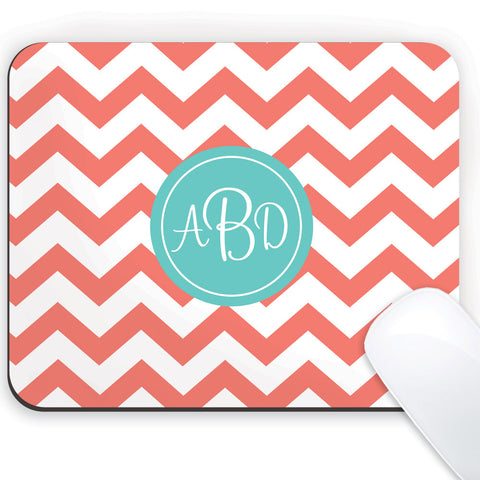 chevron mousepad with monogram