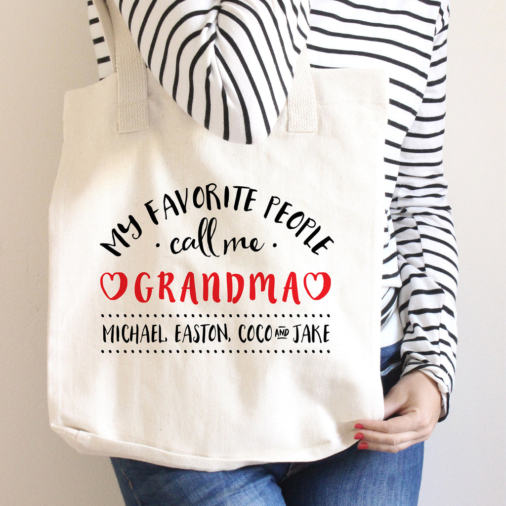 Favorite People Call Me Grandma Tote Bag