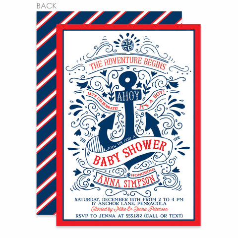 Nautical Baby Shower Invitation | Swanky Press