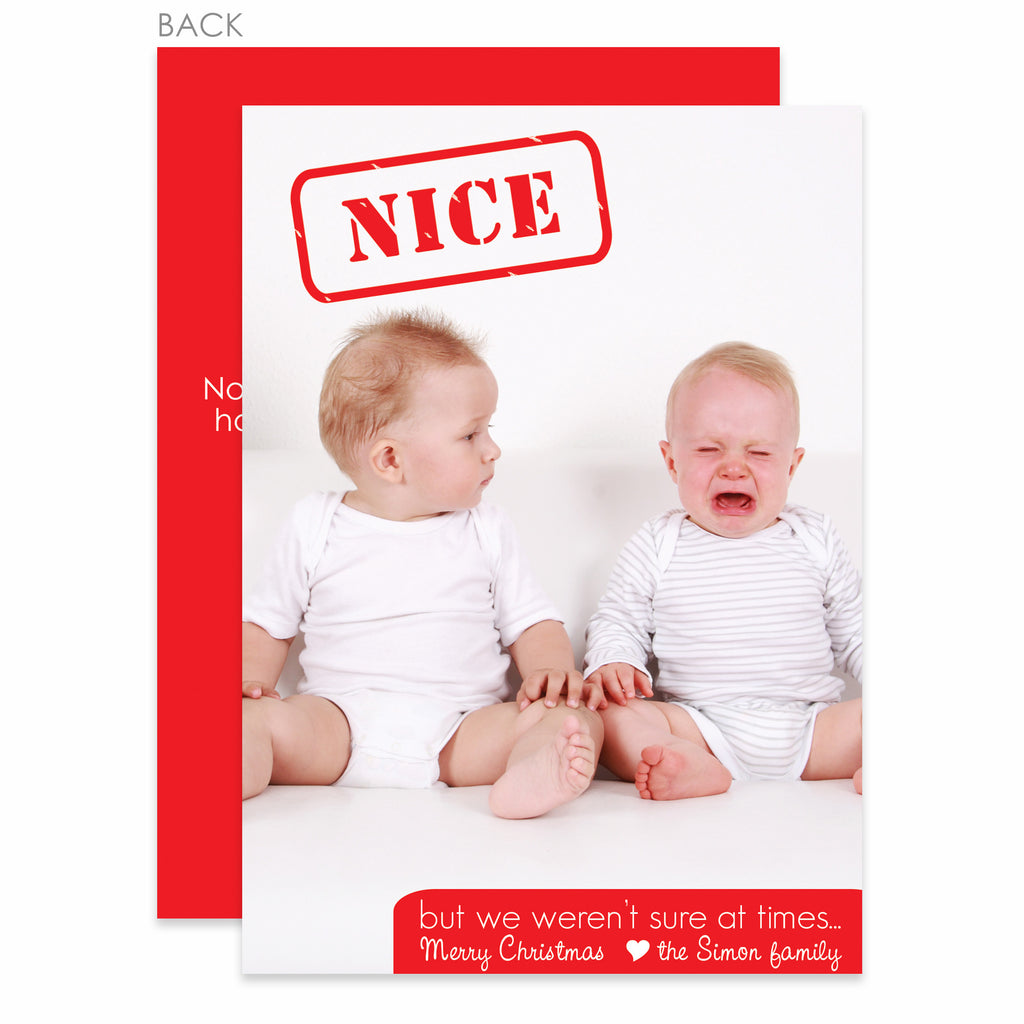 Nice Holiday Photo Card