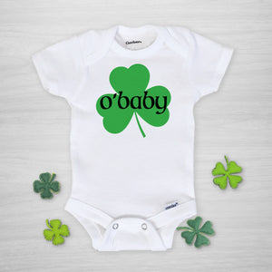 O'Baby St. Patrick's Day Gerber Onesie, short sleeved
