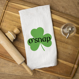 O'Snap St. Patrick's Day Tea Towel, Funny Kitchen Towel, Irish, PIPSY.COM