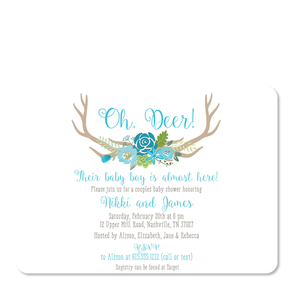 Oh Deer Baby Boy Shower Invitation Pipsy