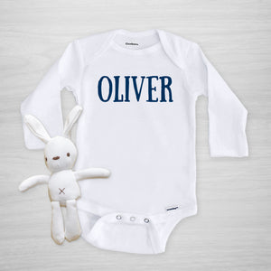 Personalized Name Onesie, Boy, Pipsy.com, long sleeved
