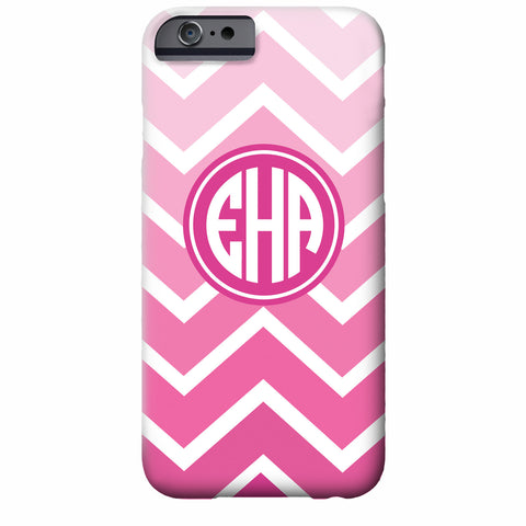 Monogrammed Ombre Chevron iPhone Case | Swanky Press