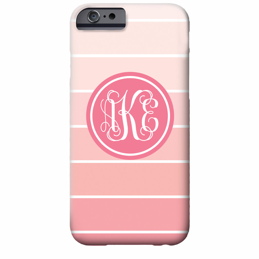 Ombre Monogrammed iPhone Case | Swanky Press