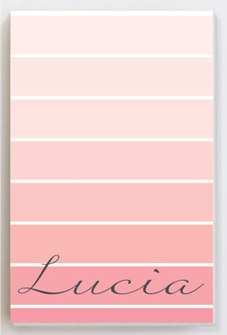 Ombre shading pink notepad