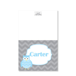 Owl Party Folded Notecard | Swanky Press | Blue