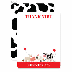 Party Animal Farm Party Flat Notecard | Swanky Press