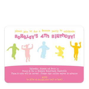 Bounce Girl Birthday Invitation