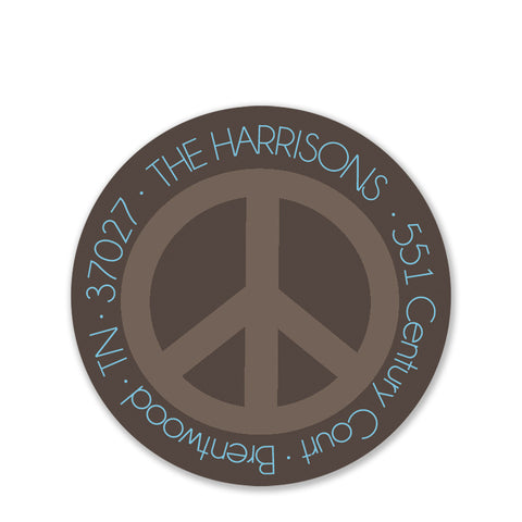 Peace On Earth Return Address Stickers