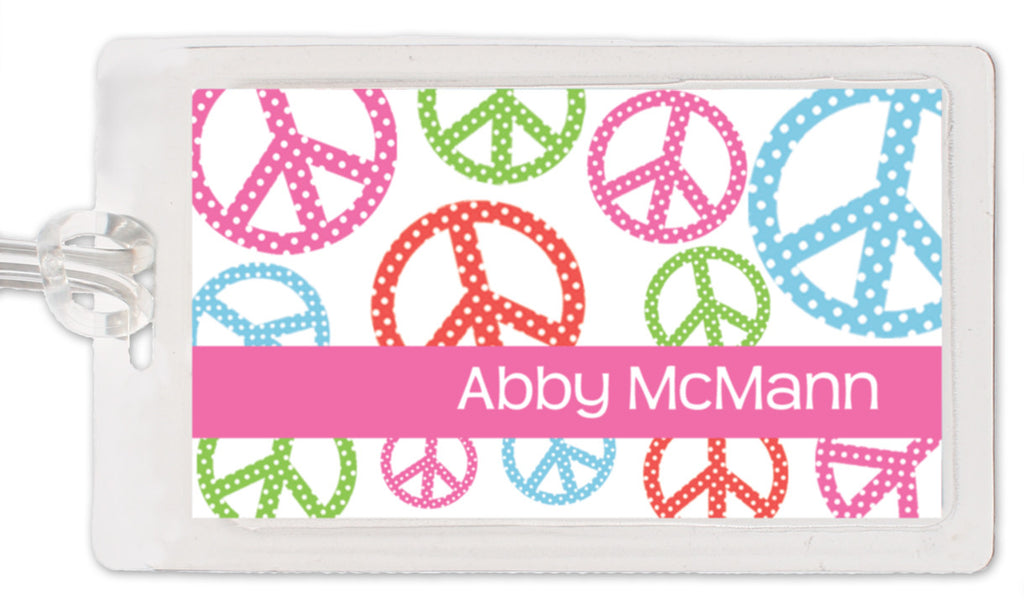 Peace Sign Bag Tag