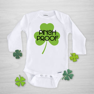 Pinch Proof St. Patrick's Day Gerber Onesie, long sleeved