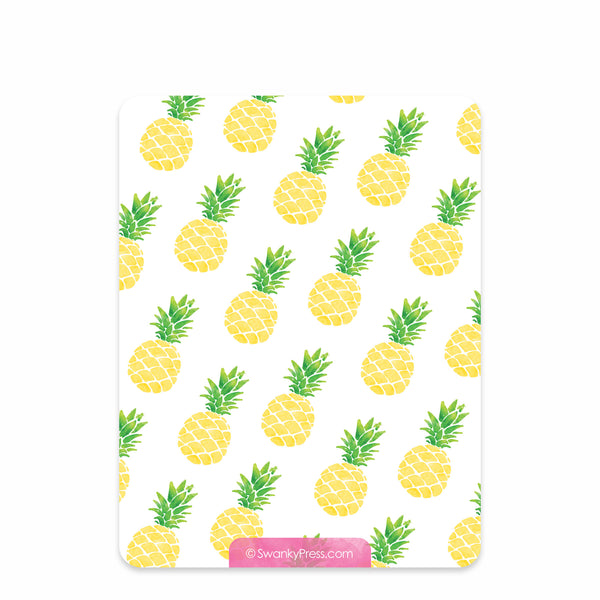 Pineapple Party Flat Notecard | Swanky Press | Back
