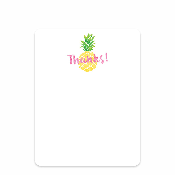 Pineapple Party Flat Notecard | Swanky Press | Front