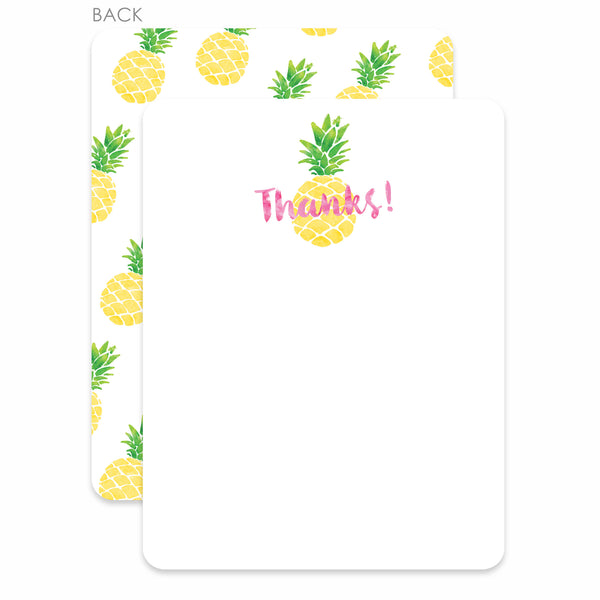 Pineapple Party Flat Notecard | Swanky Press | Pink