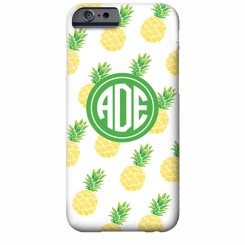 Monogrammed Pineapple iPhone Case | Swanky Press
