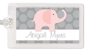 Pink Elephant Bag Tag