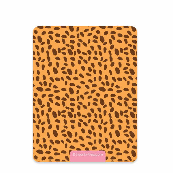 Zoo Thank you Notecards (Pink) | Swanky Press, back view