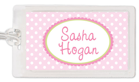 Polka Dot Girl Bag Tag