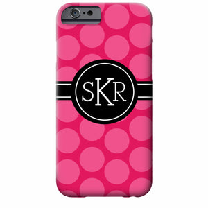 Monogrammed Polka Dot iPhone Case | Swanky Press