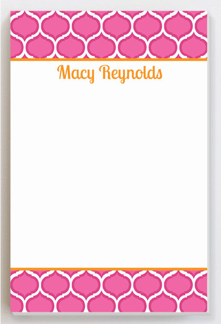 Pop of pink with orange notepad