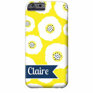 Personalized Poppies iPhone Case | Swanky Press