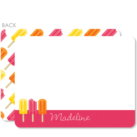 Popsicle Party Flat Notecard | Swanky Press | PInk