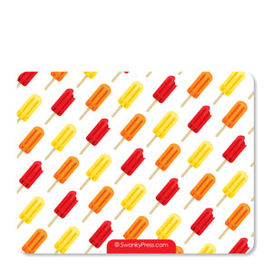 Red Popsicle Party Flat Notecard | Swanky Press | Back