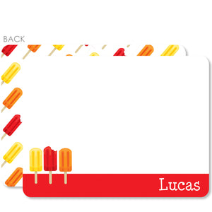 Popsicle Party Flat Notecard | Swanky Press | Red