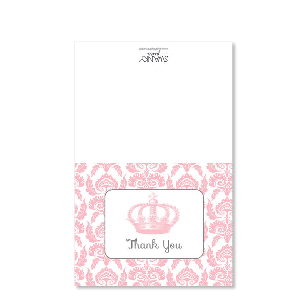 Vintage Princess Party Folded Notecard | Swanky Press
