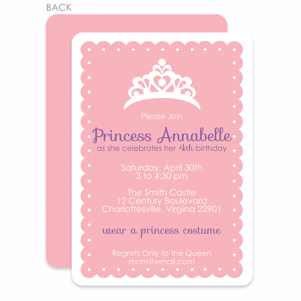 Princess Dress-Up Party Birthday Invitation – Pipsy