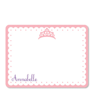 Princess Party Flat Notecard | Swanky Press | Front