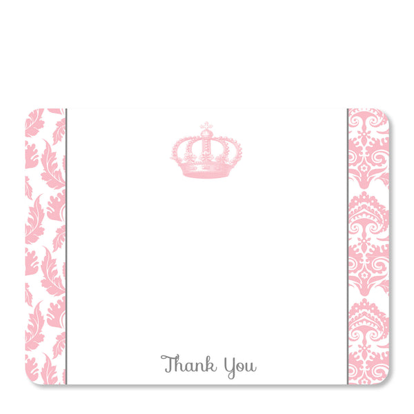 Vintage Princess Party Flat Notecard | Swanky Press | Front