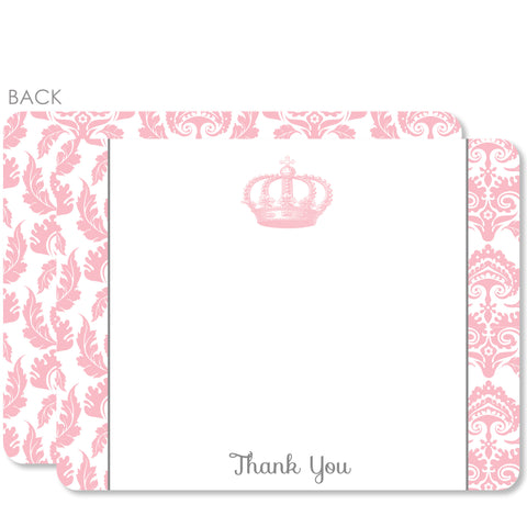 Vintage Princess Party Flat Notecard | Swanky Press | Pink