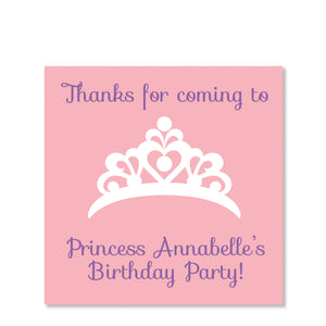 Princess Party Favor Sticker | Swanky Press | Square