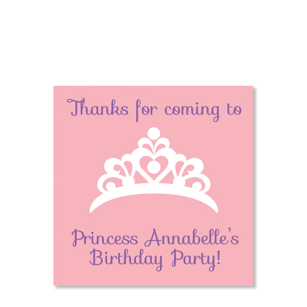 Princess Party Cardstock Favor Tag | Swanky Press | Front