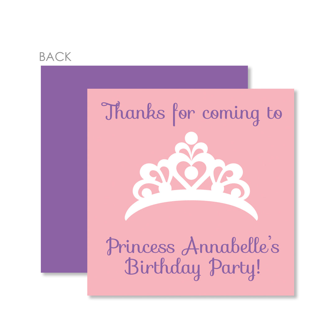 Princess Party Cardstock Favor Tag | Swanky Press | Pink & Purple