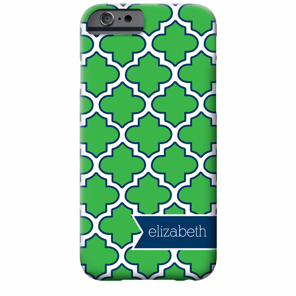 Personalized Quatrefoil iPhone Case | Swanky Press